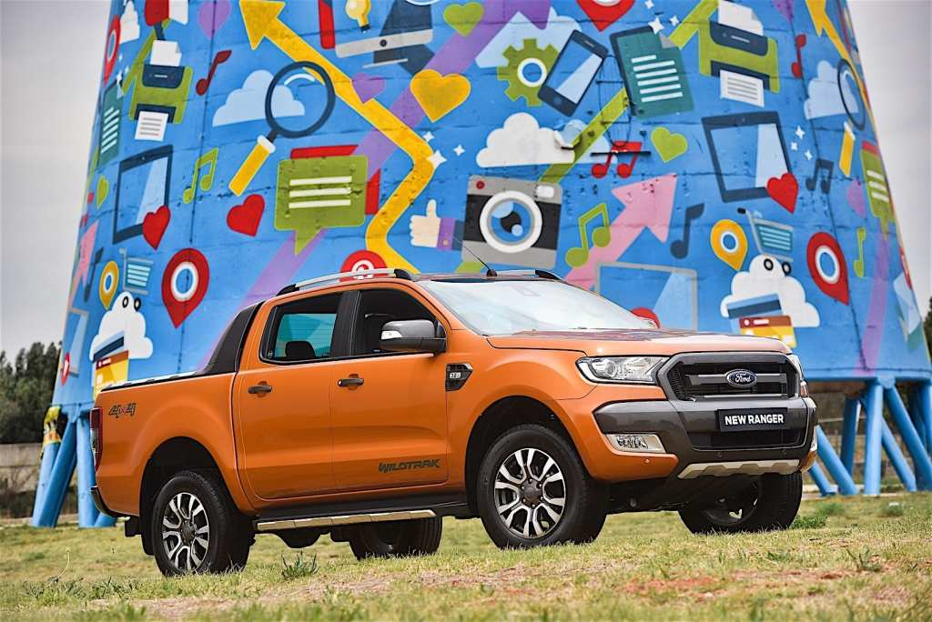 Ford Ranger Wildtrak front-side view